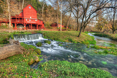 Grist Mill Photograph - The Hodgson Mill - Missouri by Gregory Ballos