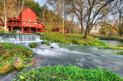 The Hodgson Water Mill - Missouri Art Print by Gregory Ballos