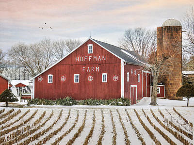 Digital Art - The Hoffman Farm by Lori Deiter