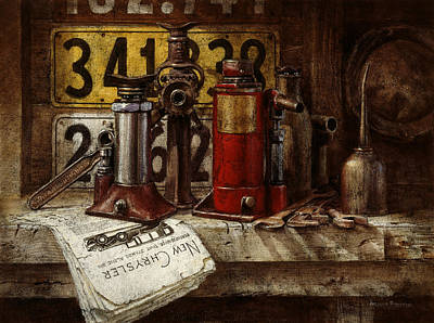 Traditional Still Life Painting - The Hold-up Gang by Graham Braddock
