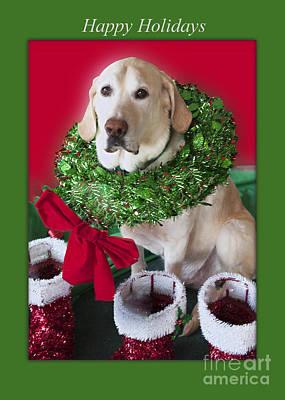 Labrador Retriever Digital Art - The Holiday Decorator by Jonathan E Whichard