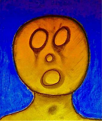 Drawing - The Hollow Men 88 - One by Mario Perron