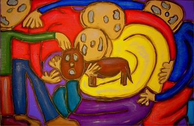 Painting - The Hollowmen Family by Mario Perron