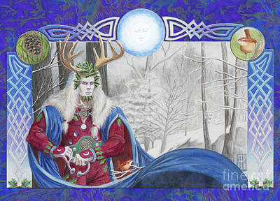 The Holly King Art Print by Melissa A Benson