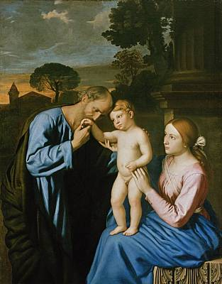 St Mary Painting - The Holy Family by Il Sassoferrato