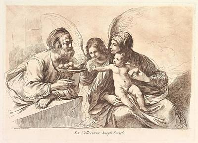 Giovanni Francesco Barbieri Drawing - The Holy Family, The Christ Child by Francesco Bartolozzi