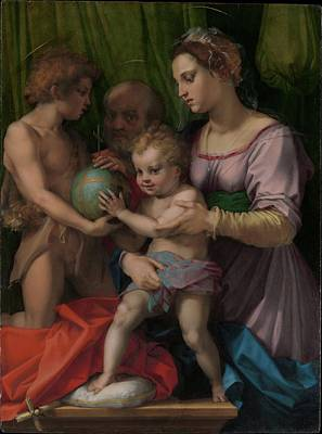 Sarto Painting - The Holy Family With The Young Saint by Andrea del Sarto
