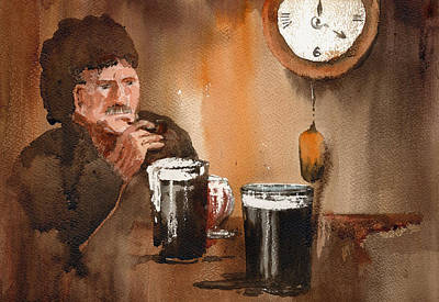 Painting - The Holy Hour by Val Byrne