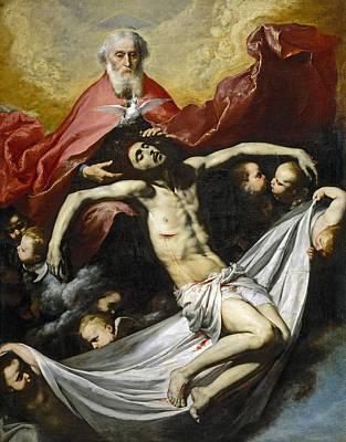 Half God Painting - The Holy Trinity by Jusepe de Ribera