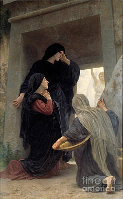The Holy Women At The Tomb Art Print by William-Adolphe Bouguereau