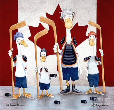 Hockey Painting - The Home Team... by Will Bullas