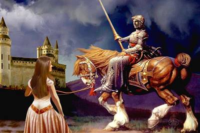 Knights Castle Painting - The Homecoming by Ron Chambers
