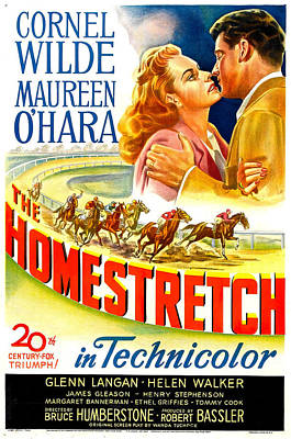 The Homestretch, Us Poster, From Left Art Print by Everett
