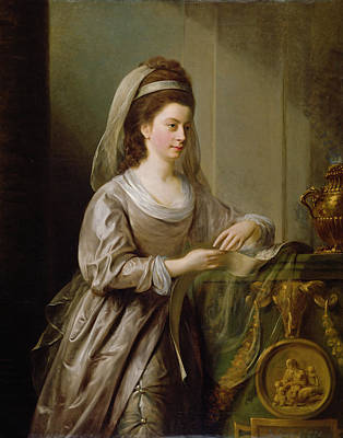 Relief Painting - The Hon. Mrs Nathaniel Curzon, 1778 by Nathaniel I Hone