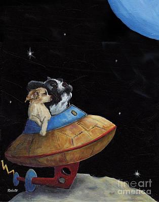 Boston Painting - The Honeymooners by Robin Wiesneth