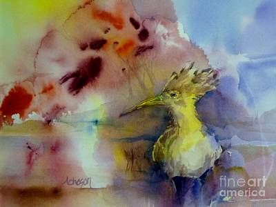 Painting - The Hoopoe by Donna Acheson-Juillet