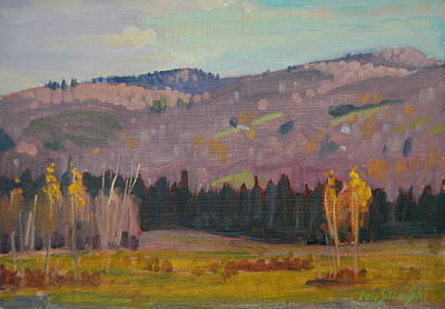 Painting - The Hoosac Mountain Range by Len Stomski