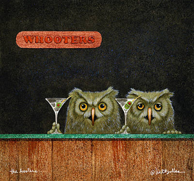 Barred Owl Wall Art - Painting - The Hooters... by Will Bullas