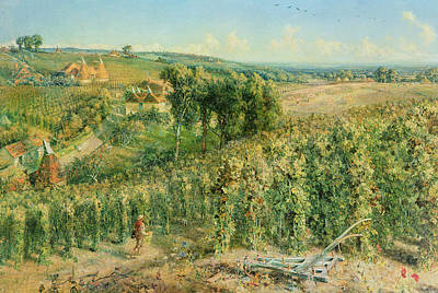 Brewing Painting - The Hop Garden by Cecil Gordon Lawson