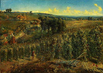 Garden Scene Painting - The Hop-gardens Of England by Celestial Images