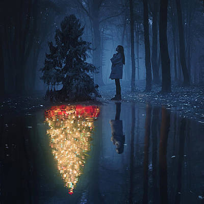 Reflection Photograph - The Hope Of Christmas by Terry F