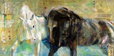 Painting - The Horse As Art by Frances Marino