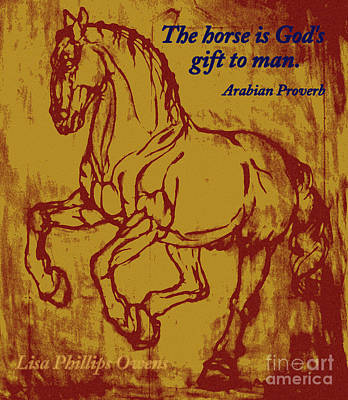 The Horse Is God's Gift To Man Art Print