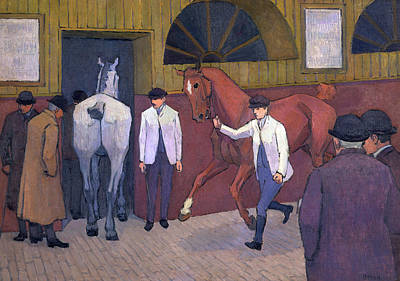 Bevan Robert Polhill 1865-1925 Painting - The Horse Mart Signed, Lower Right Bevan by Litz Collection