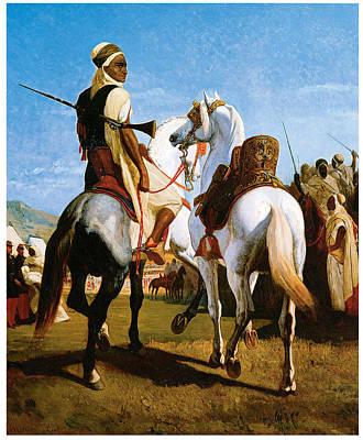 The Horse Of Gaada Art Print by Eugene ginain