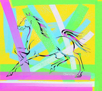 Digital Art - The Horse by Peggy Gabrielson