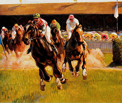 Painting - The Horse Race by Gary Grayson