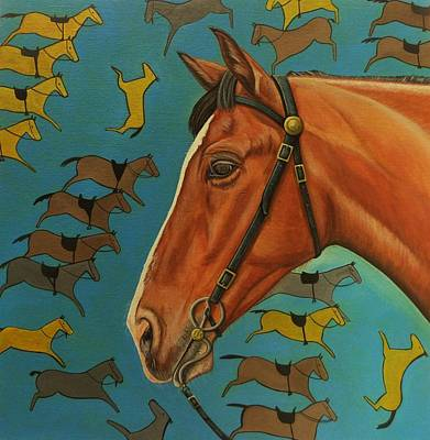 The Horses Of Little Bighorn Original by Lucy Deane