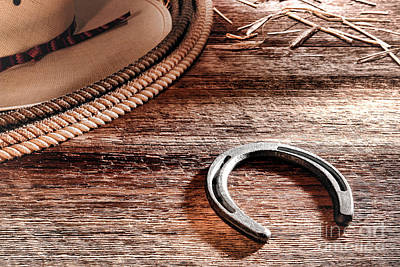 Aged Wood Photograph - The Horseshoe by Olivier Le Queinec