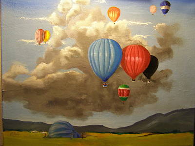 Painting - The Hot Air Balloon by Eric Burgess-Ray