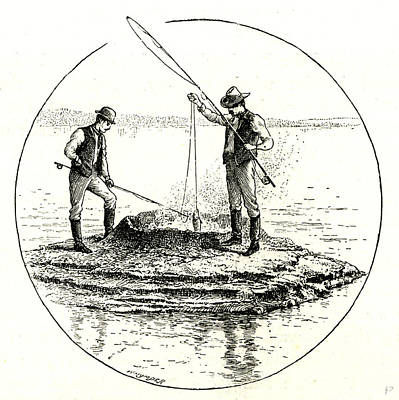 Yellowstone Drawing - The Hot Cone In The Yellowstone Lake 1891 Usa by English School
