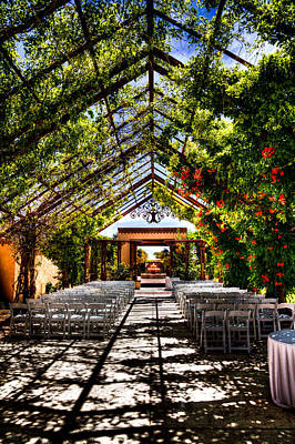 Photograph - The Hotel Albuquerque Wedding Pavilion by David Patterson
