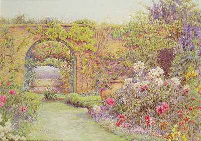 Herbaceous Painting - The Hotel Belvedere, Lacerla by Ernest Arthur Rowe