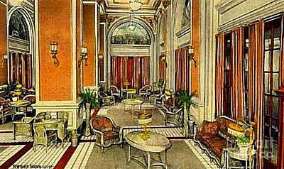 Painting - The Hotel Gibson Lounge In Cincinnati Oh C.1920 by Dwight Goss