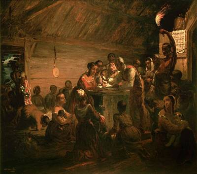 The Hour Of Emancipation, 1863 Oil On Canvas Print by William Tolman Carlton