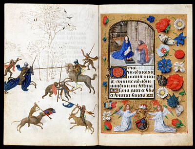 The Hours Of Engelbert Of Nassau Print by Bodleian Museum/oxford University Images