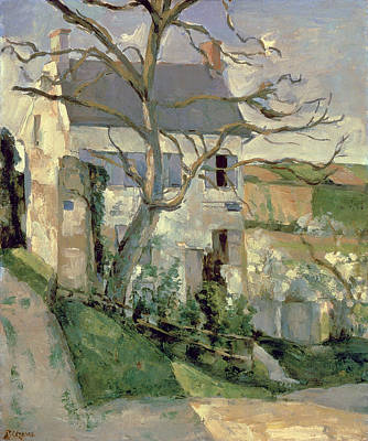 Hermitage Painting - The House And The Tree, C.1873-74 by Paul Cezanne