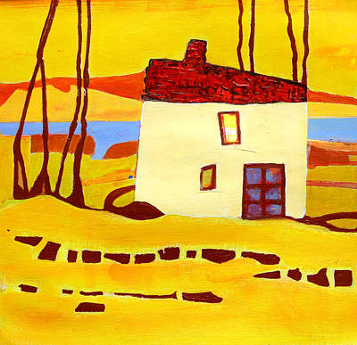 Painting - The House By The River by Agnes Trachet