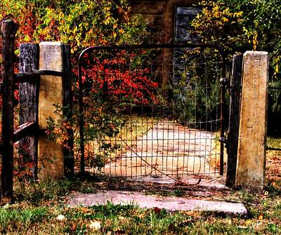 Digital Art - The House Gate by Aliceann Carlton