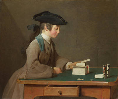 The House Of Cards Print by Jean-Simeon Chardin