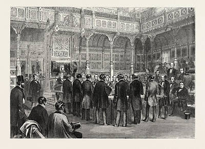 The House Of Commons Swearing-in Of The Members Art Print by English School