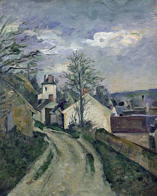 Perspective Painting - The House Of Doctor Gachet by Paul Cezanne