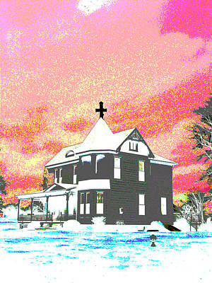 Surrealism Royalty-Free and Rights-Managed Images - The House of Haunted Hill by Jimi Bush
