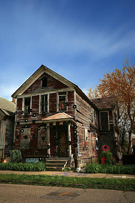 The House Of Soul At The Heidelberg Project - Detroit Michigan Art Print