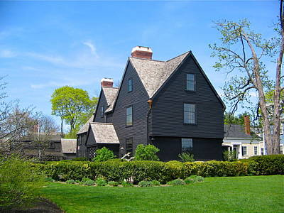 Photograph - The House Of The Seven Gables by Denise Mazzocco
