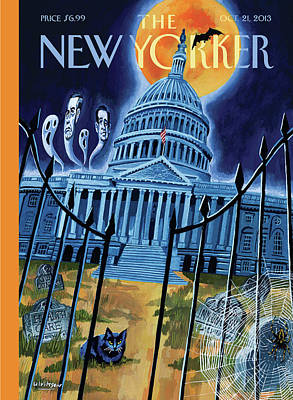 Party Painting - The House Republicans Haunt The Captiol Building by Mark Ulriksen